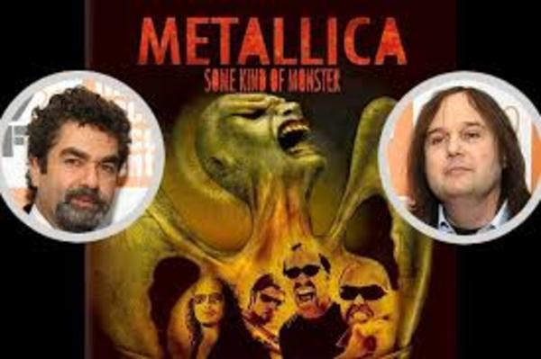 Metallica, met Joe Berlinger (l) en Bruce Sinofsky (r)
