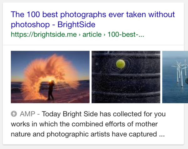 Google Tests Image Sliders in Mobile SERP for pages with multiple images