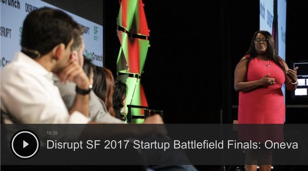 Anita Darden Gardyne, CEO, pitches at Disrupt SF