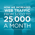 How to increase web traffic from 3k to 25k a month