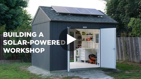 Building a Solar Powered Workshop - YouTube