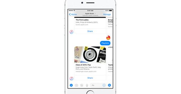 Facebook Messenger gets an Apple Music bot for full song streaming