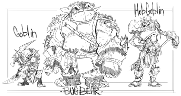 "In D&D, or Dungeons and Dragons, the bugbear is ""chaotic evil."""