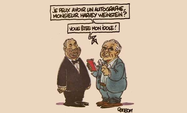 """""""Mag ik uw handtekening? U bent mijn idool!"""" vraagt DSK aan Weinstein"""