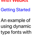 Using Dynamic Type With Web Views