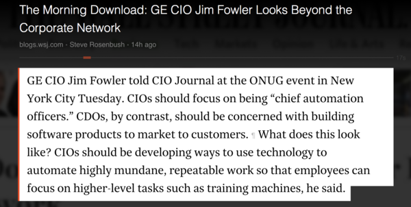 well said - automation in enterprise a huge priority
