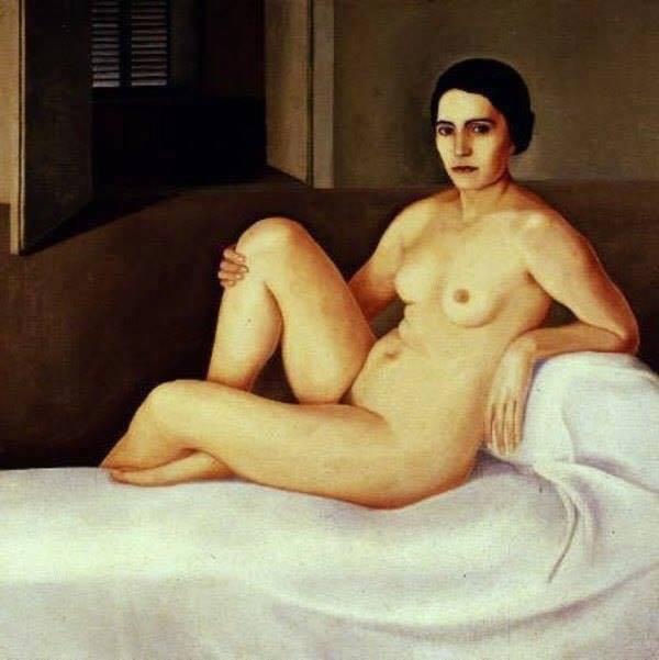 Antonio Donghi - Nudo di donna, 1923