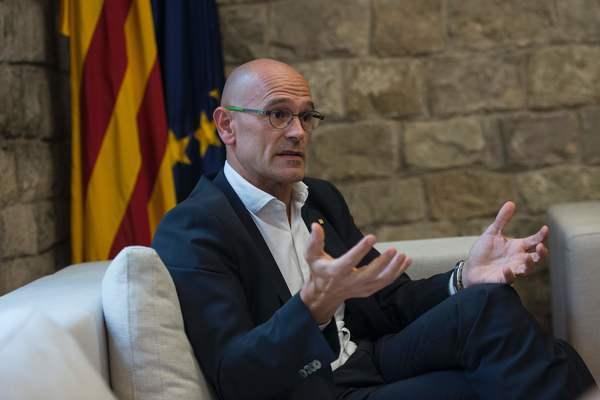 Raul Romeva de minister van Buitenlandse Zaken