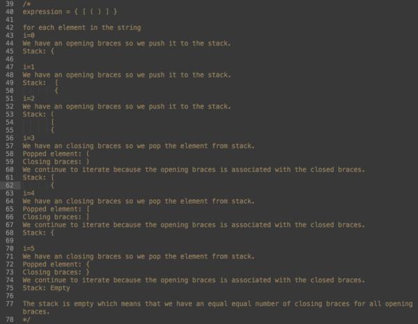 Balanced Expression pseudo code