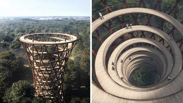 This Breathtaking Walkway Lets You Stroll Above The Trees In Denmark