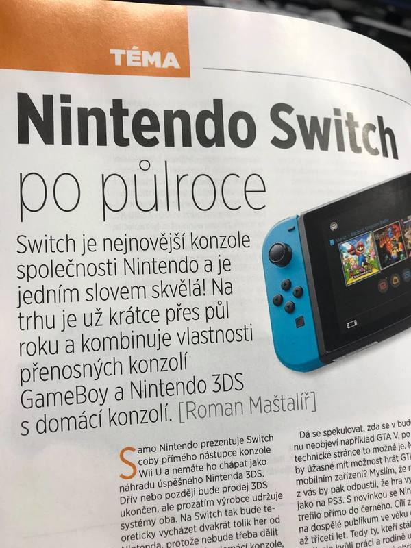 O Nintendu Switch v aktuálním čísle časopisu Computer