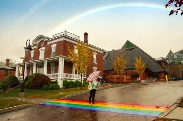 The perfect storm of rainbows on campus last week. (Stephen Mease Photography)