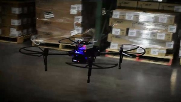 The flying drones that can scan packages night and day