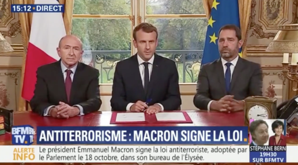 Beter dan Narcos: Als Macron een wet ondertekent, is dat tegenwoordig live op tv