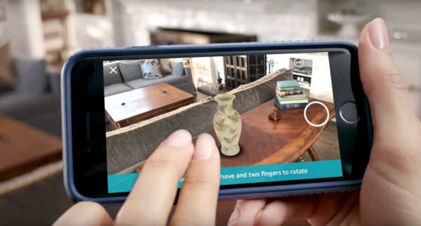 Amazon adds an AR shopping feature to its iOS app