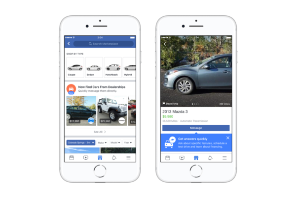 FB Marketplace Adds Car Category