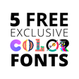 Get 5 FREE color fonts from top creatives #ColorFontWeek