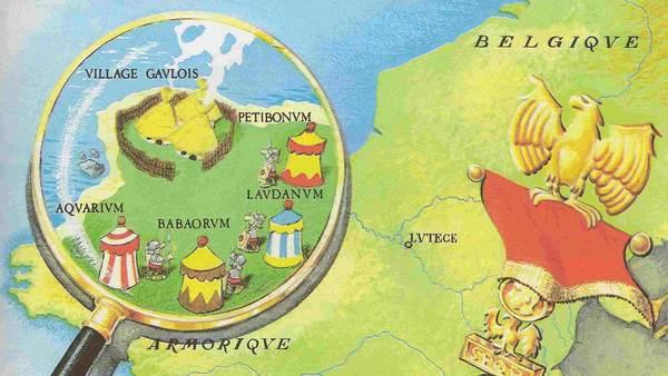 Satellietfoto van regio met onafhankelijkheidsambities