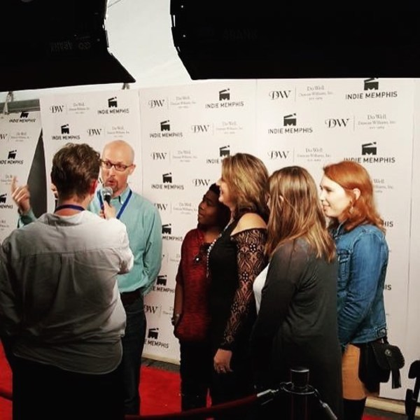 On the red carpet at Indie Memphis with some of my Big and Tall cast and crew