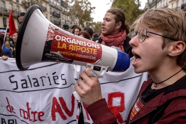 Eerder deze maand waren er al felle protesten tegen Macron