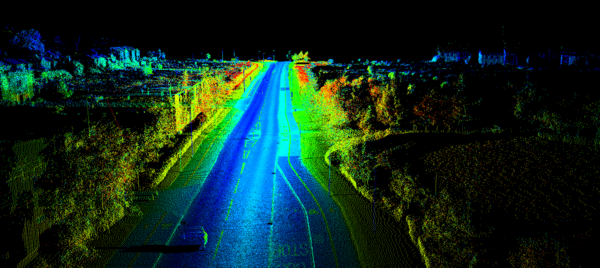 LIDAR generated point cloud for 3D mapping – Techcrunch