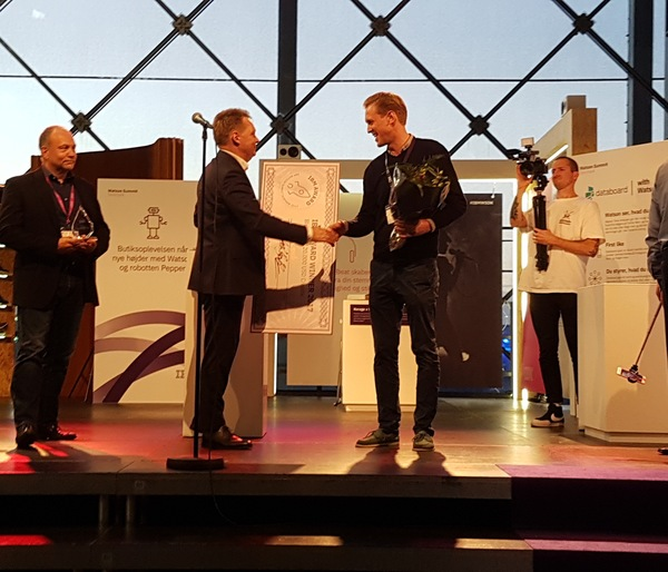 Asser Smidt one of our Founders receiving the IBM Award
