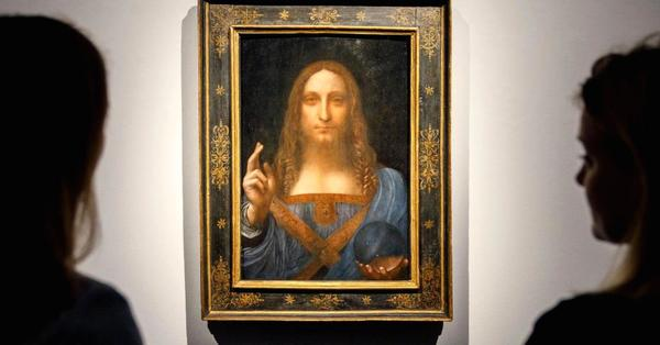 Leonardo da Vinci painting Salvator Mundi auctioned off at Christie's