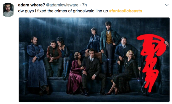 """Crimes of Grindelwald #1: Being Johnny Depp.""@kadeengrifffiths"