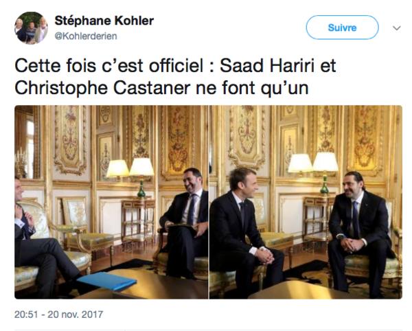 Hoog bezoek op het Elysée. Maar wie is Castaner en wie Hariri?