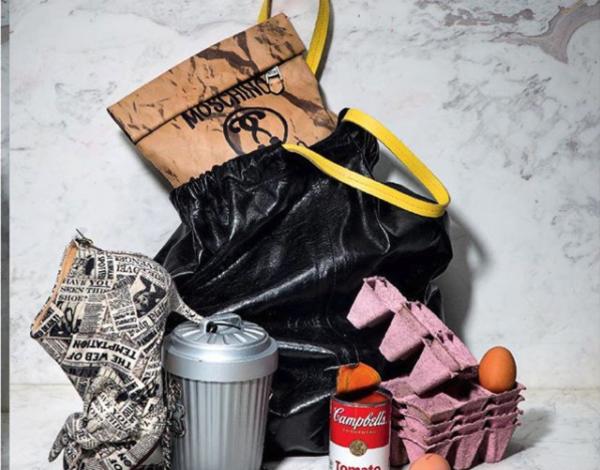 The bag in its natural habitat. Sure it's trash, but it's *designer* trash.