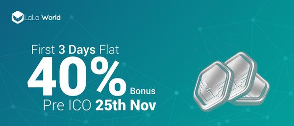 *Other offers during the first three day crowdsale period will not be applicable