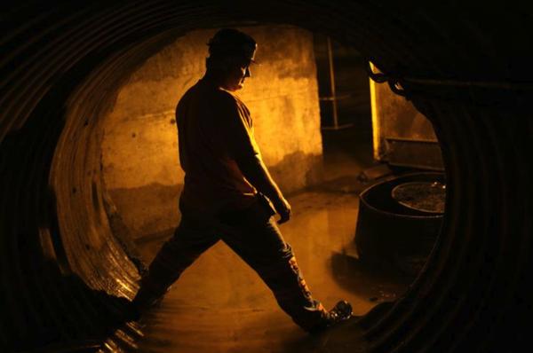 Een mijnwerker in West-Virginia