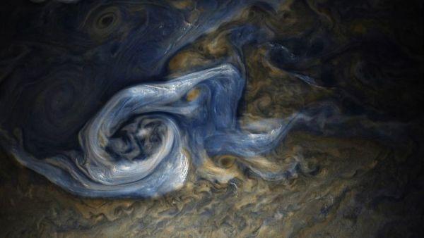 Image of a storm on Jupiter