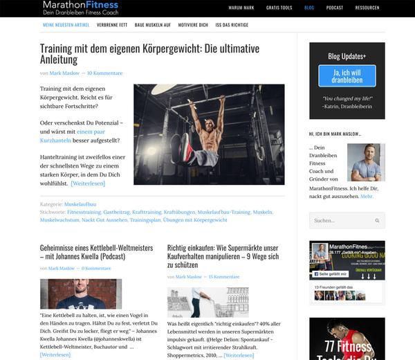 Mark Maslow —ein Fitnesscoach