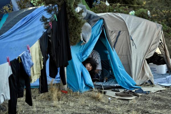 Vluchtelingenkamp in Griekenland