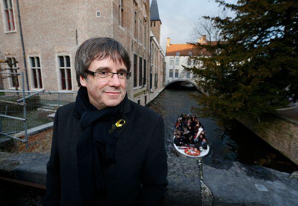 De Catalaanse leider Puigdemont in Vlaanderen