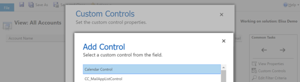 Configuring Custom Controls for Views in Dynamics 365