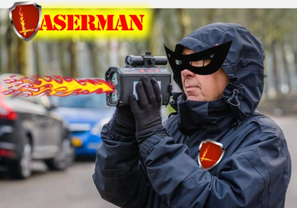 klik op de schouder van Laserman om bij het stuk te komen