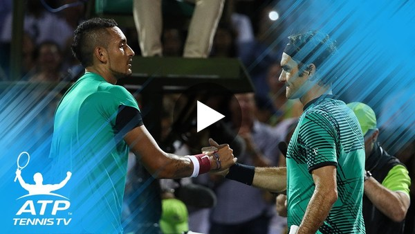 Best ATP Tennis Matches in 2017: Part 1 | Federer vs Kyrgios and more - YouTube