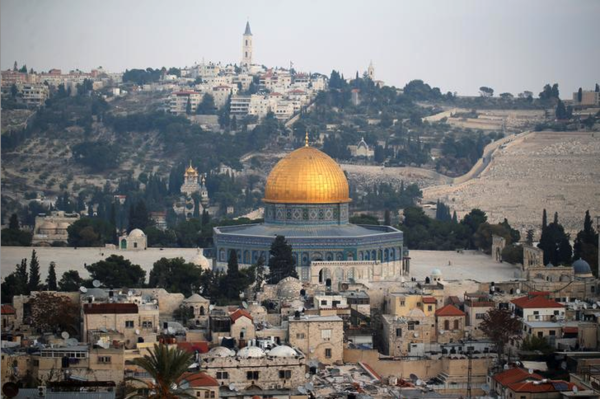 Stadsgezicht van de oude stad Jeruzalem (foto: Reuters)
