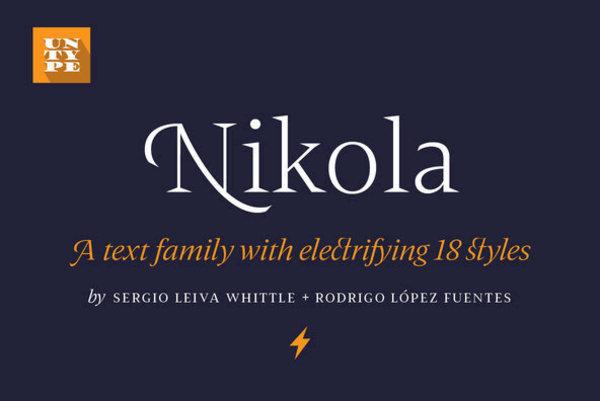 Nikola, by Untype Foundry