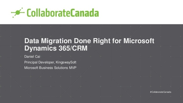 Data Migration Done Right for Microsoft Dynamics 365/CRM