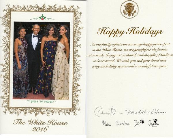 De Kerstkaart van president Obama in 2016