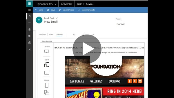 Email functionality within the new UUI in Dynamics 365 - YouTube