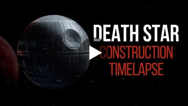 Death Star Construction Timelapse - YouTube
