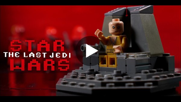 Star Wars The Last Jedi Throne Room Scene in LEGO - YouTube