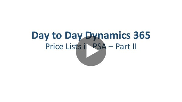 Dynamics 365 Project Service Automation: Price Lists - Part 2 - YouTube