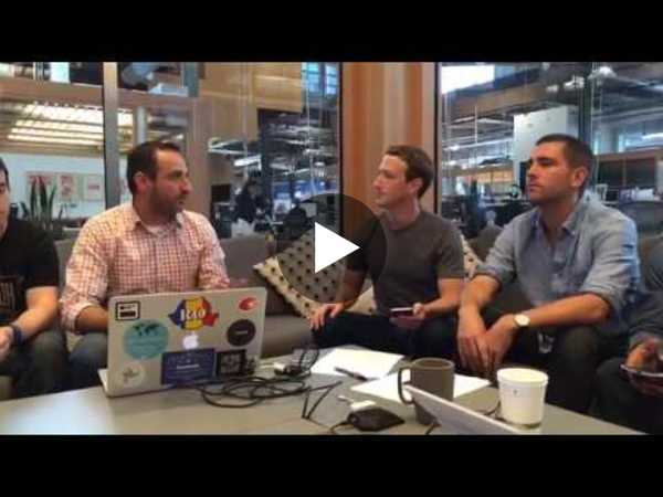 Facebook Hackathon; Mark Zuckerberg showing what his team has built - YouTube