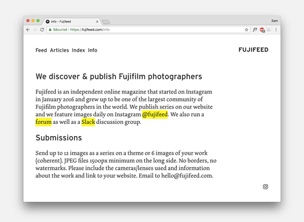 Fujifeed #17 - New website and features | Revue