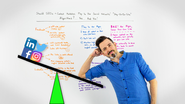 """Should SEOs & Content Marketers Play to the Social Networks' """"Stay-On-Our-Site"""" Algorithms?"""